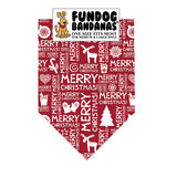Merry Christmas Pattern Bandana - FunDogBandanas