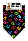 Wholesale 10 Pack - P0063 Bandana Cool Paws Black Loralie Designs - FunDogBandanas