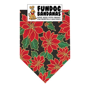 Green Poinsettia Bandana