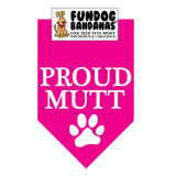 Wholesale 10 Pack - Proud Mutt Bandana - Assorted Colors - FunDogBandanas