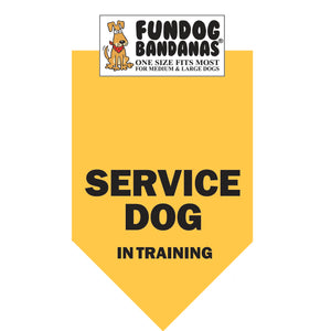 Service Dog in Training Bandana - FunDogBandanas