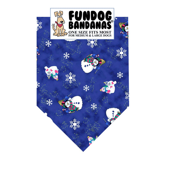 Wholesale 10 Pack - Snowmen Pattern Bandana