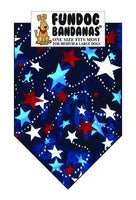 P0059 Bandana, Made in the USA Stars Red, White, Blue