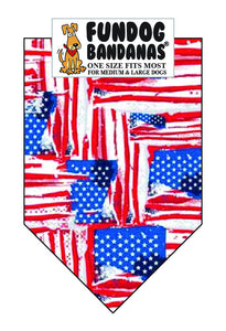 Wholesale 10 Pack - Painted Flag, American Flag - FunDogBandanas