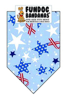 T0094 Bandana, Fourth of July Stars