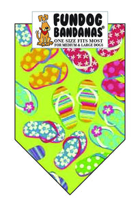 Wholesale 10 Pack - T0101 Bandana, Flip Flop Fun - FunDogBandanas