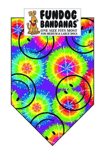 Wholesale 10 Pack - T0102 Bandana, Smiley Face Retro - FunDogBandanas