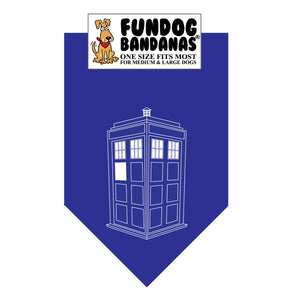 Wholesale 10 Pack - Tardis - Assorted Colors - FunDogBandanas