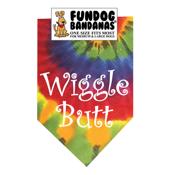 Wholesale 10 Pack - Wiggle Butt Bandana - Assorted Colors - FunDogBandanas