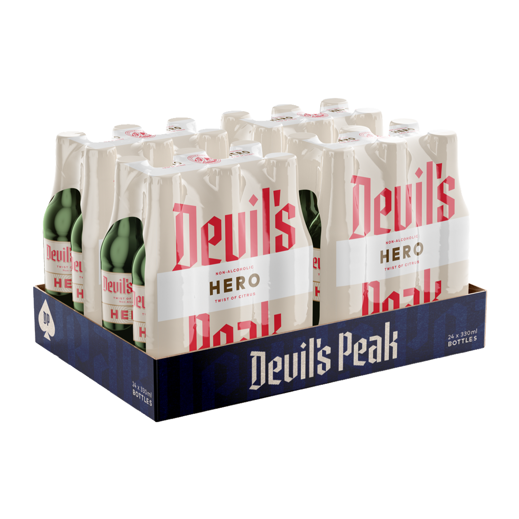 Devil's Peak Hero Twist of Citrus Shrink | 24 x 330ml NRBs | 0.5% ALC/VOL
