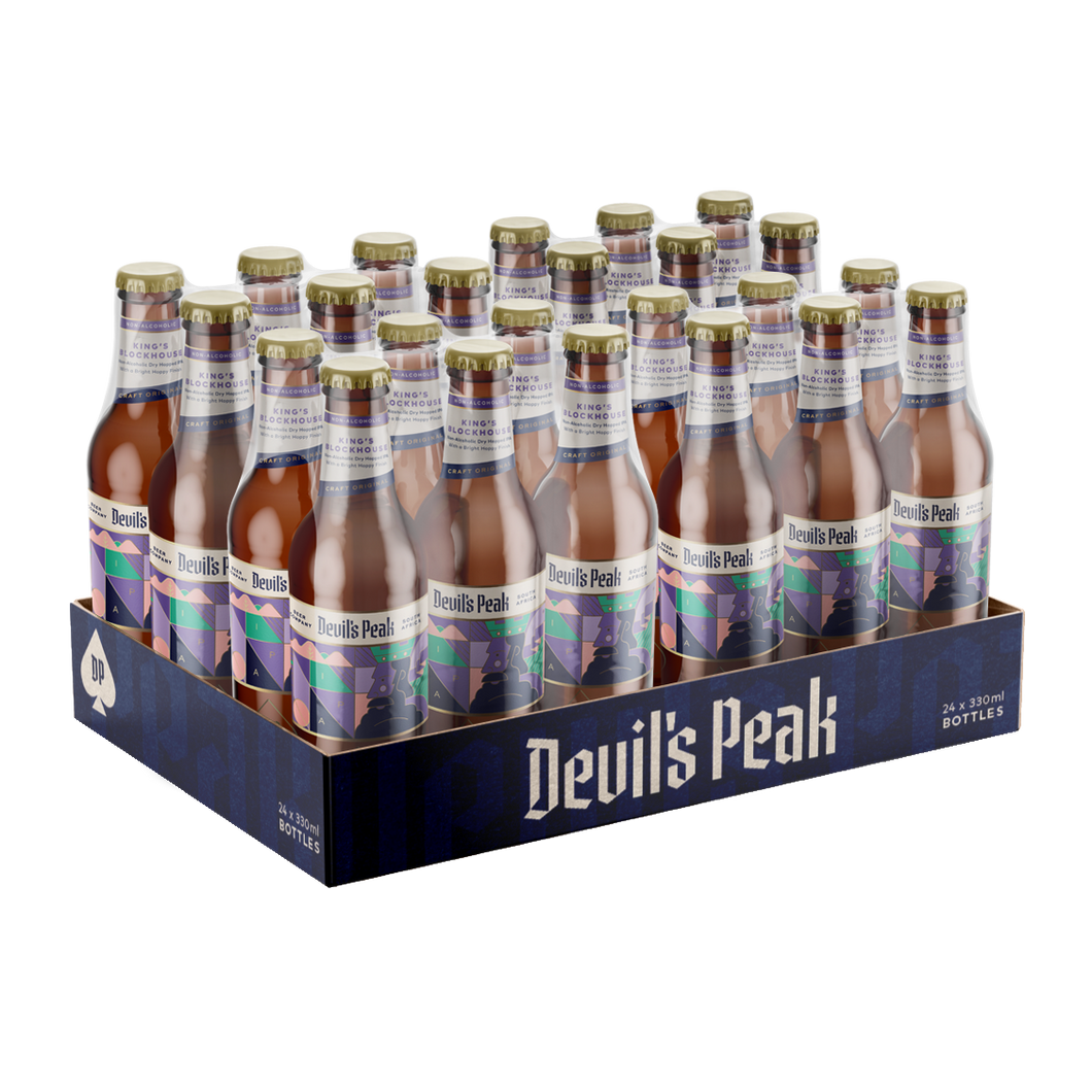 Devil's Peak Hero King's Blockhouse IPA | 24 x 330ml NRBs | 0.5% ALC/VOL