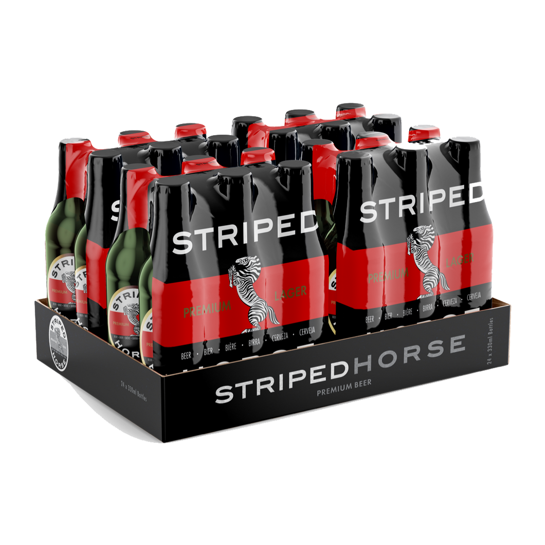 Striped Horse Lager | 24 x 330ml NRBs | 5% ALC/VOL