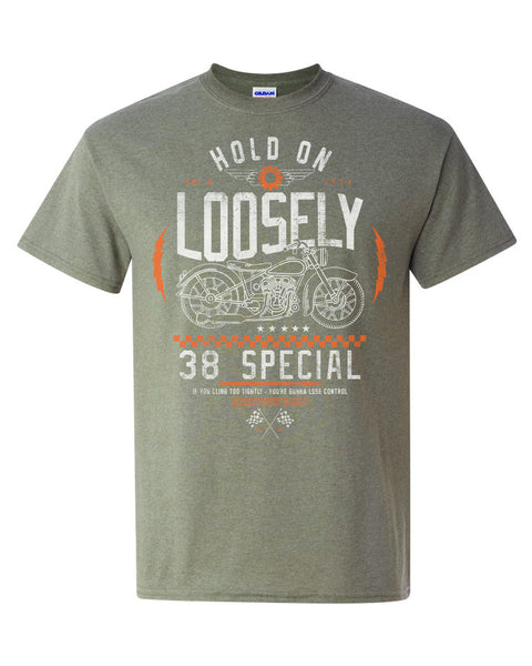 Hold On Loosely Tee- Military Green