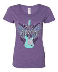Wing Guitar Tee- Scoop Tee