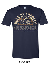Hold On Loosely Skull Tee - Navy Tee