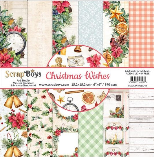 ScrapBoys - Christmas Wishes - 6x6 Paper Pad