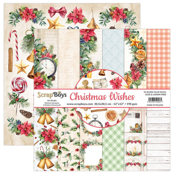ScrapBoys - Christmas Wishes - 12x12 Paper Collection Pad