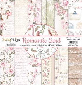 ScrapBoys - Romantic Soul - 12 x 12 Paper Collections Pad