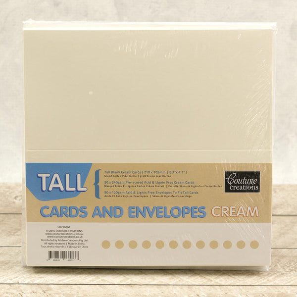 Tall Cards and Envelopes 50pkt