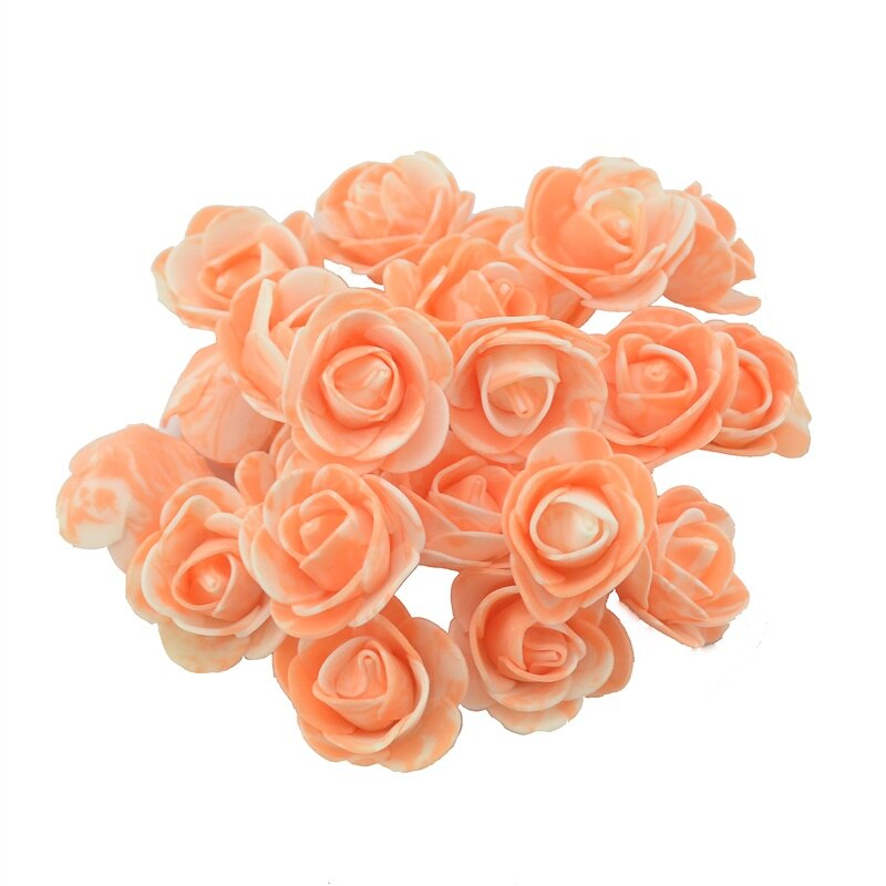 10PCS/lot 3.5cm Mini PE Foam Artificial Rose Flower Head Scrapbooking For DIY Wedding Home Decoration  Handmade Fake Flowers