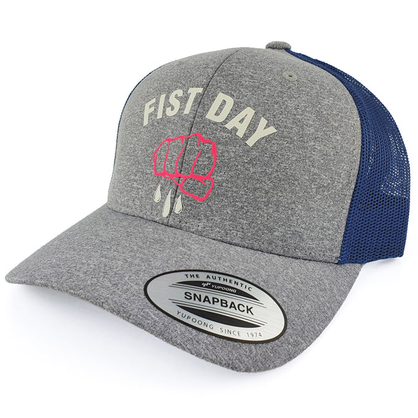Gorra Fist Day Grey Pink