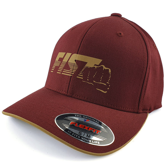 Gorra-Fist-Maroon-Gold