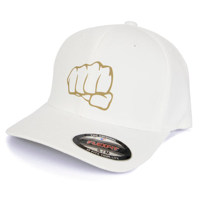 Gorra Fist Wooly White Gold