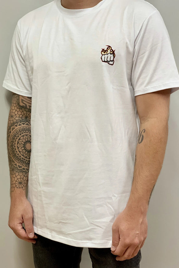 Camiseta Fist Flame Blanca