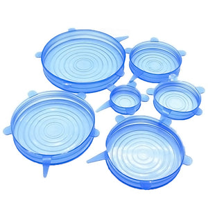 6 PCS Silicone Stretch Lids Bowl