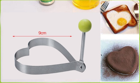 Fried Egg Mold Pancake Bread Fruit and Vegetable Shape Decoration