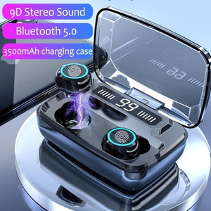3500mAh LED Bluetooth Wireless Earbuds