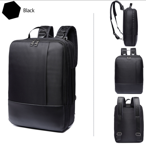 Quad 4 in 1 Convertible Business Briefcase + Backpack + Messenger + Sling Bag