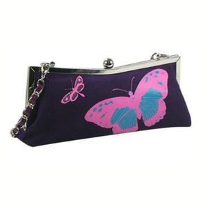 Evening Bag with Butterfly Print and Glitter