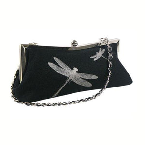 Evening Bag with Dragonfly Print and Glitter