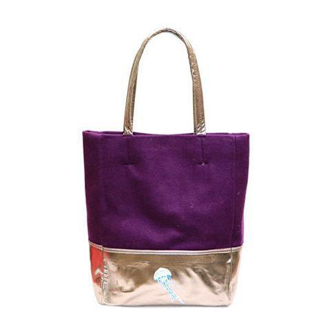 Tote Bag with Jellyfish Print