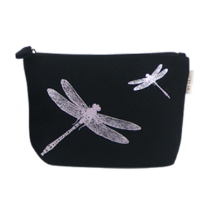 Blazer Casual Pouch with Dragonfly Print