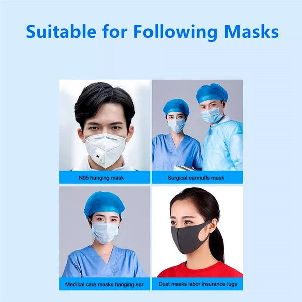 Face Mask Extenders For Tight Fit & Ear Relief - Pack of 4 pieces