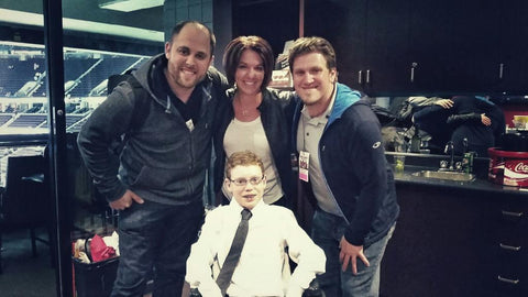 From left to right. Ross Rheaume, Tina Boileau, Devon Burns, Jonathan Pitre (centre)
