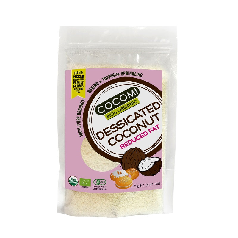 Organic Dessicated Coconut - Reduced Fat (125g) – CCM003