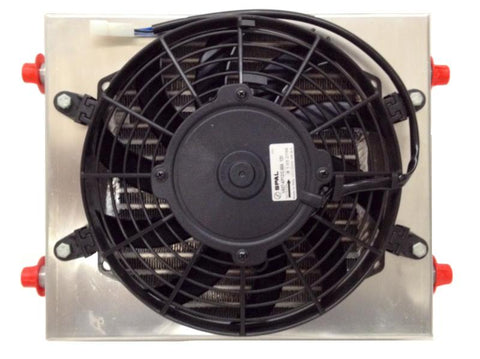 New Dual Fluid Oil Cooler  Heavy Duty w/ SPAL Fan