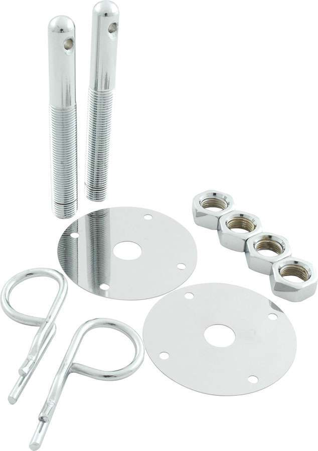 Steel Hood Pin Kit w/ 5/32in Hairpin Clips