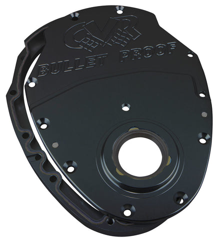 SBC Billet Timing Cover 2-Piece - Black Anodized