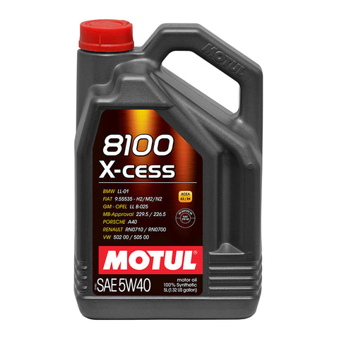 8100 X-Cess 5w40 Oil 5 Liter Bottle