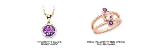 Amethyst jewellery available on our website