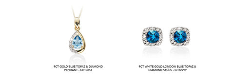 Blue topaz jewellery available on our website