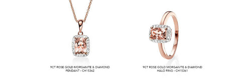 Morganite jewellery available on our website