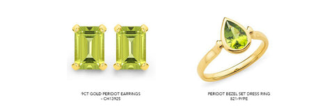 peridot jewellery available on our website