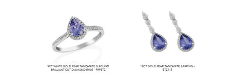 Tanzanite jewellery available on our website