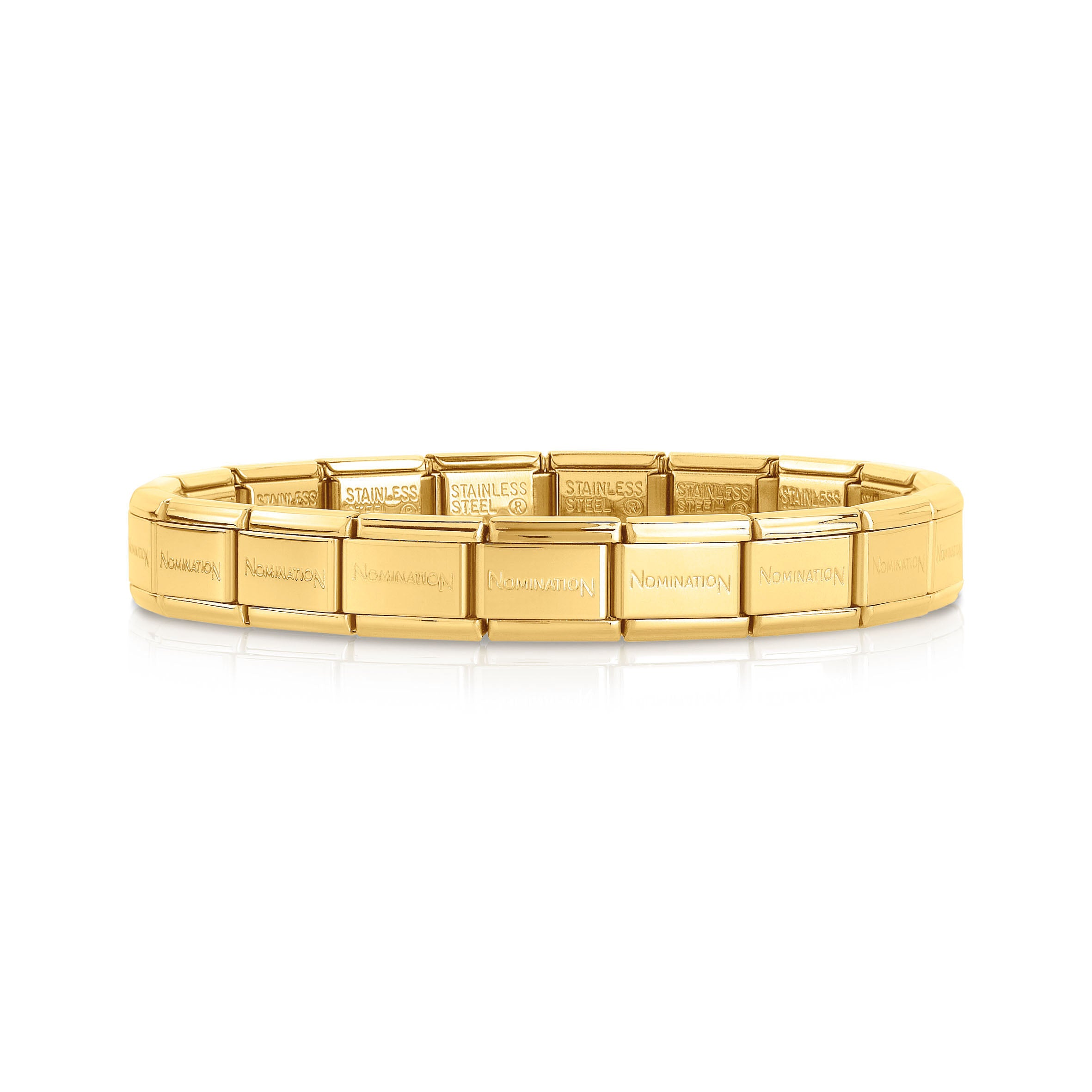 NOMINATION - Composable Gold Plated Steel 19 Link Band 030001008