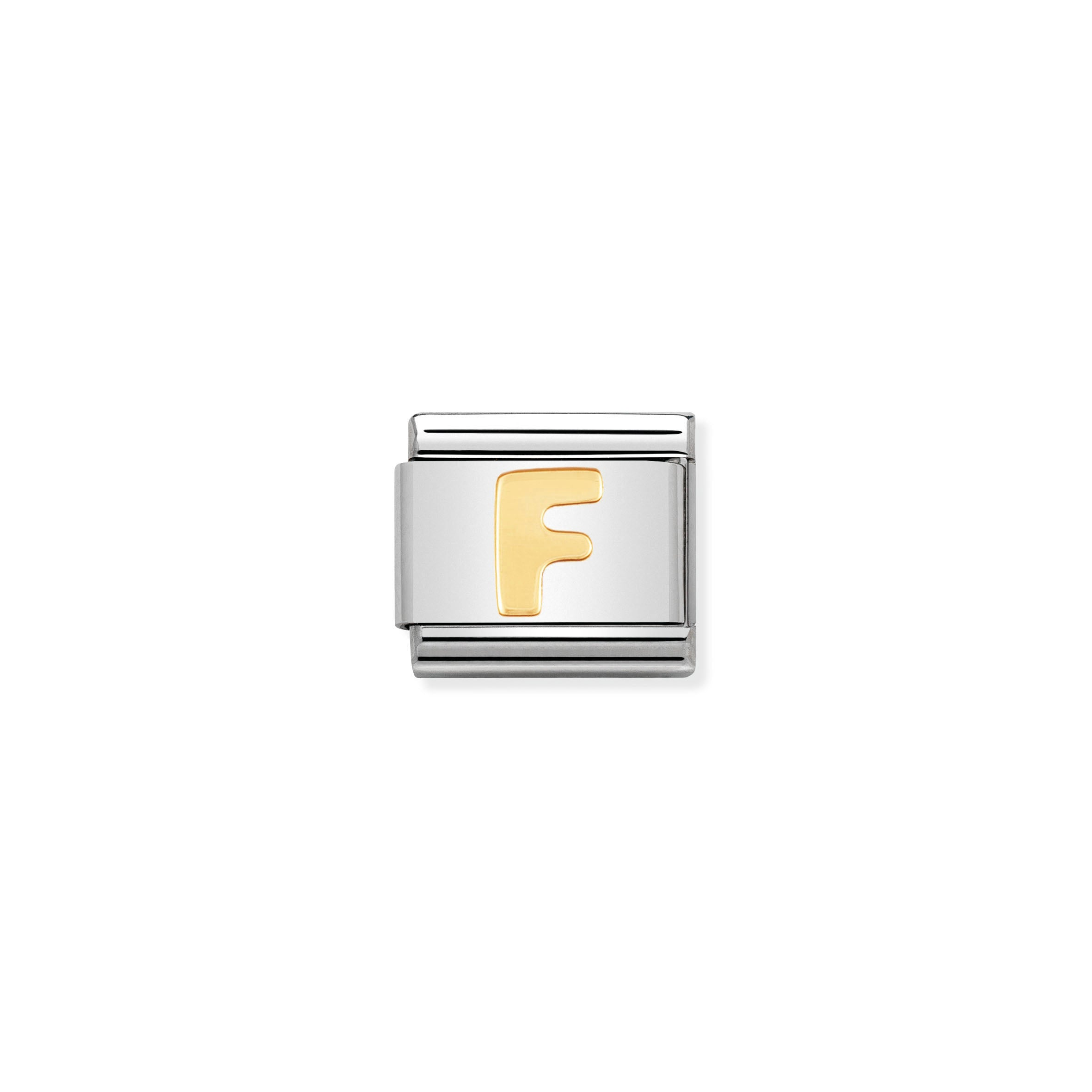 NOMINATION - Composable Steel & Gold Letter 'F'